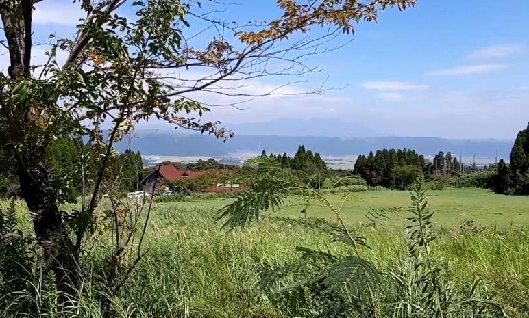 阿蘇 坊中野営場 景色