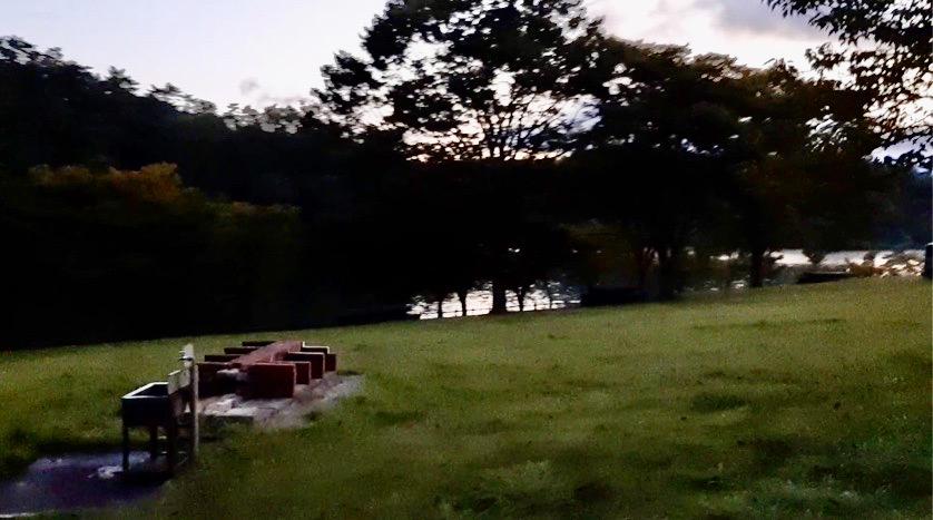 志高湖キャンプ場の炊事場