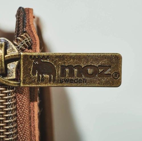 moz 雑誌付録 本革コンパクト財布BOOK ファスナー取手