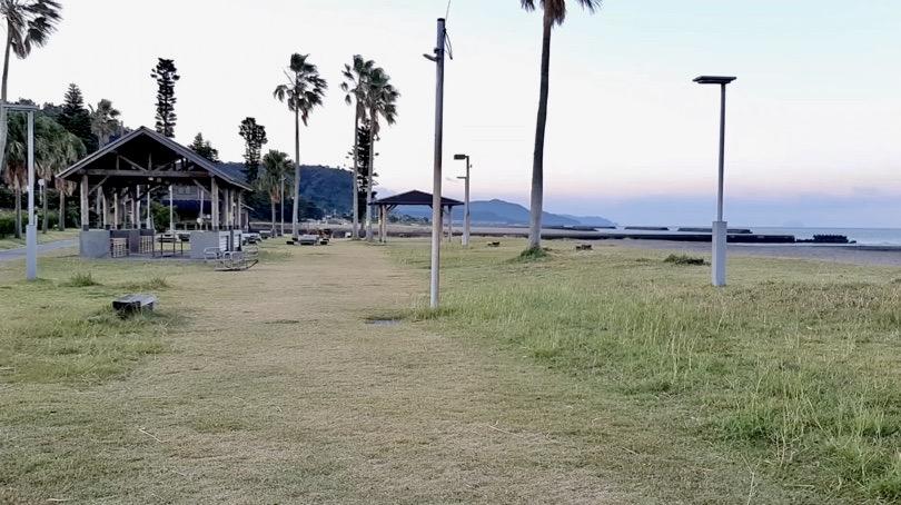 鹿児島県錦江町の無料キャンプ場 神川キャンプ場 テントサイト
