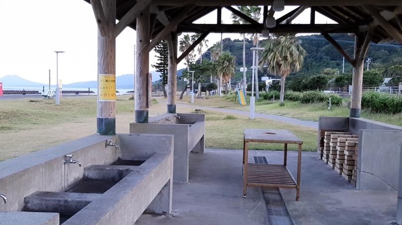 鹿児島県錦江町の無料キャンプ場 神川キャンプ場 水道