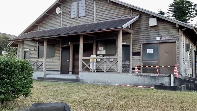 鹿児島県錦江町にある無料の神川キャンプ場 受付 管理棟