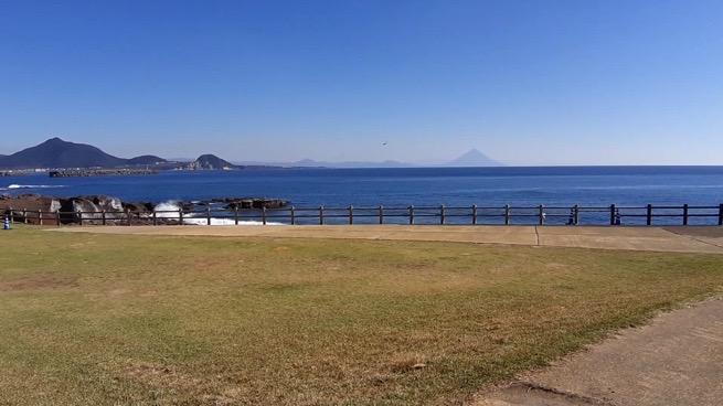 鹿児島県枕崎市火の神公園からの景色