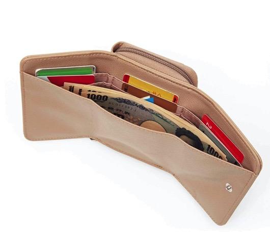 大人のおしゃれ手帖2月号付録はカードもたくさん入るzuccaの三つ折り財布