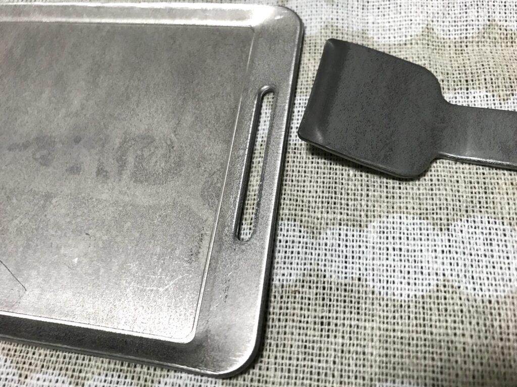 100均のミニ鉄板プレート