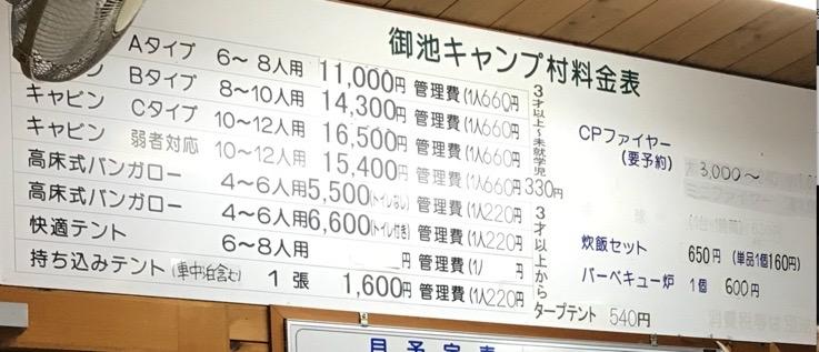 宮崎県 御池キャンプ場の料金