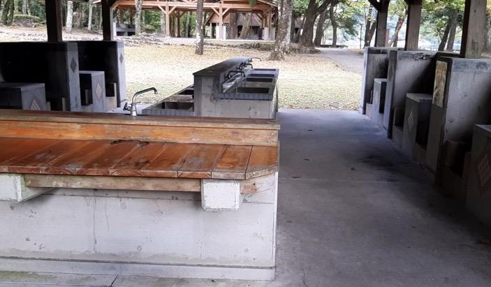 御池キャンプ場 炊事場