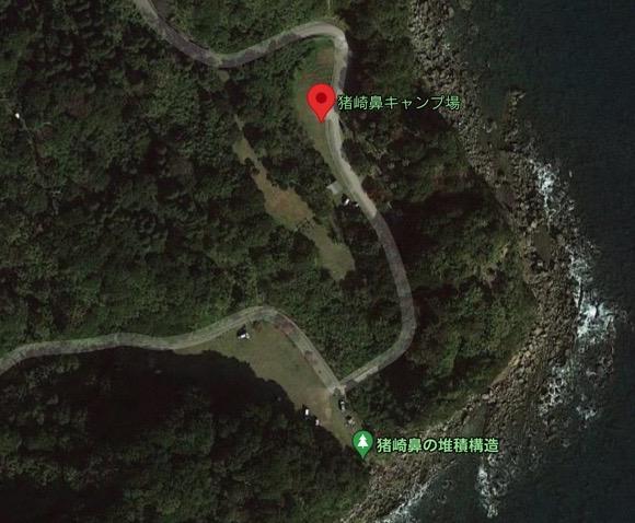 宮崎県 無料キャンプ場 猪崎鼻公園キャンプ場の場所