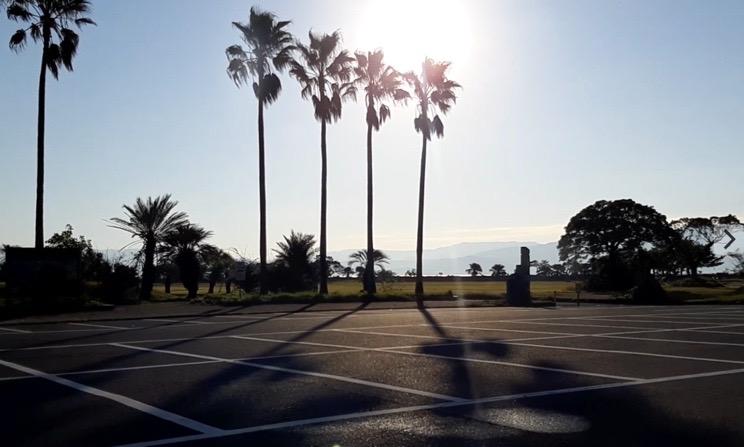 鹿児島県休暇村指宿 指宿エコキャンプ場 駐車場