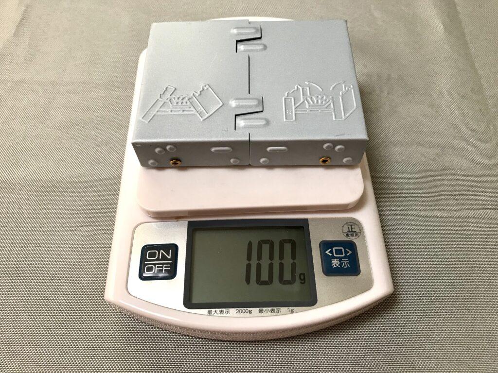 100均キャンプ ミニストーブの重さ
