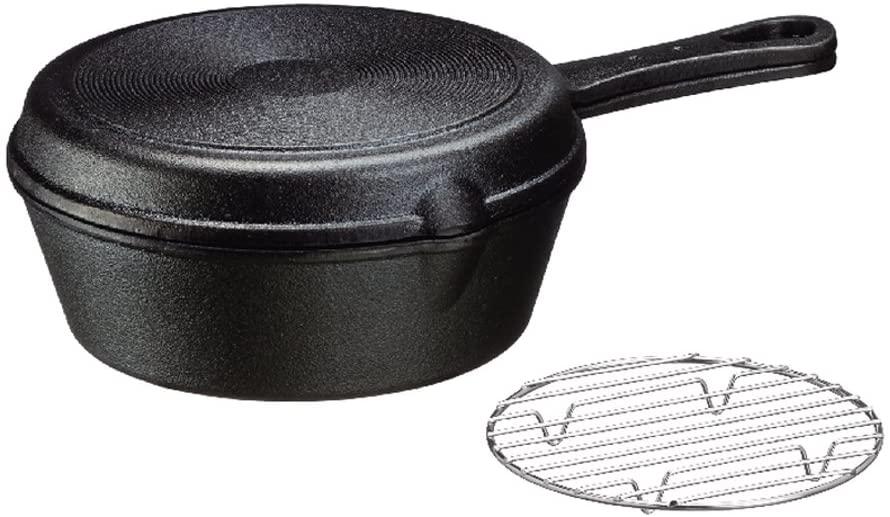 イシガキ産業 スキレット フライパン ダッチオーブン 鉄鋳物 18cm 深型 浅型 セット 網付き